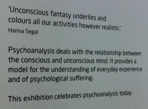 Introduction to the Psychoanalysis exhibit